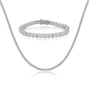 Jewelry - 18K White Gold Plated Bracelet and Necklace Sets